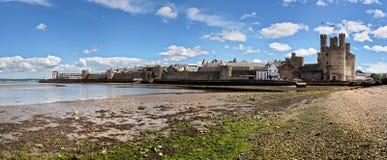 Caernarfon slott Royaltyfria Bilder