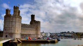 Caernarfon slott arkivfoton