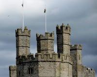 Caernarfon slott, Wales, Förenade kungariket Royaltyfri Foto