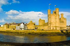 Caernarfonkasteel, Wales Royalty-vrije Stock Foto