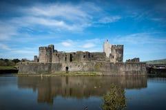 Caerphilly城堡,威尔士,加的夫 图库摄影