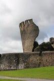 caerphilly城堡 免版税库存图片