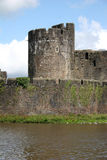 caerphilly城堡 图库摄影