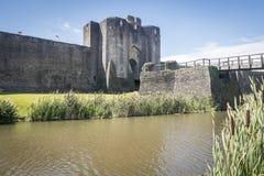 caerphilly城堡 库存图片