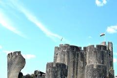caerphilly κάστρο στην Ουαλία Στοκ Εικόνα