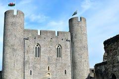 caerphilly κάστρο στην Ουαλία Στοκ εικόνα με δικαίωμα ελεύθερης χρήσης