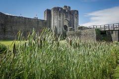 caerphilly κάστρο Στοκ Φωτογραφίες