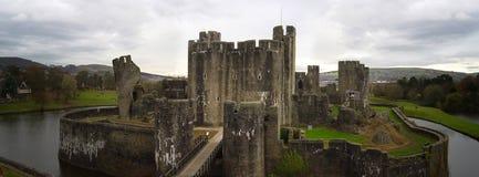 caerphilly замок Стоковое Изображение RF