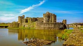 caerphilly замок Стоковое фото RF