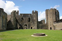 Caerphilly castle royalty free stock photography