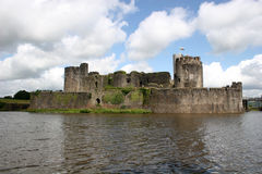 Caerphilly castle royalty free stock images