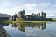 Caerphilly Castle Stock Photo