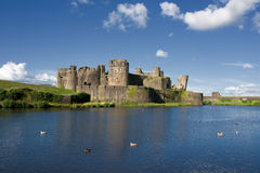 Caerphilly Castle. The ruins of Caerphilly Castle, Wales, United Kingdom Royalty Free Stock Photo