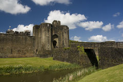 Caerphilly Castle. The ruins of Caerphilly Castle, Wales, United Kingdom royalty free stock image