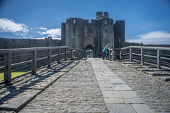 Caerphilly Castle Entrance Stock Images