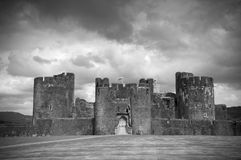 Caerphilly castle ,Wales Royalty Free Stock Images