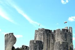Caerphilly castle in Wales Stock Image