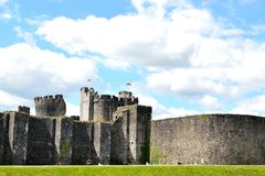 Caerphilly castle in Wales Royalty Free Stock Photography
