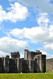 Caerphilly castle in Wales Stock Images