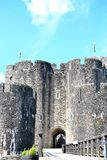 Caerphilly castle in Wales Royalty Free Stock Image