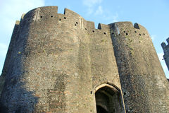 Caerphilly Castle, Wales Stock Images