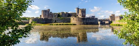 Caerphilly Castle, Wales. Caerphilly Castle in Caerphilly near Cardiff, Wales, UK royalty free stock images