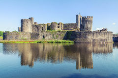 Caerphilly Castle, Wales Royalty Free Stock Image