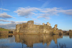Caerphilly Castle, Wales Stock Photo