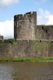 Caerphilly Schloss Stockfotografie