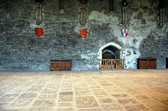 Caerphily castle. Artefacts inside of caerphily castle royalty free stock photo