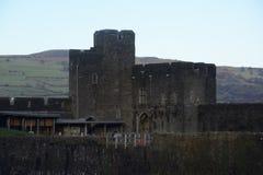 Caerpilly城堡警卫室 库存照片