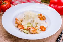 caesar γαρίδες σαλάτας Στοκ Εικόνες