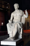 Caesar Augustus. Marble statue of emperor Caesar Augustus Stock Photo