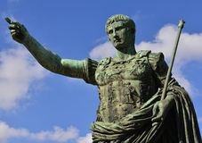 Caesar Augustus the leader. The first and most famous emperor of Ancient Rome Stock Photos