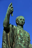 Caesar Augustus Nerva statue with blue sky stock photo