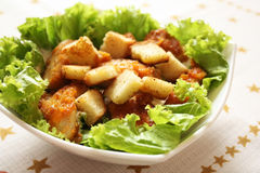 Caesar chicken salad Royalty Free Stock Image