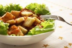 Caesar chicken salad Royalty Free Stock Photo