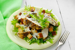 Caesar chicken salad Stock Photography