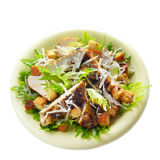Caesar chicken salad on white background Stock Photography
