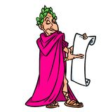 Caesar demonstration contract cartoon illustration Stock Photography