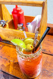 Caesar drink garnished with spices Stock Photography