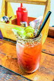 Caesar drink garnished with spices Royalty Free Stock Photography