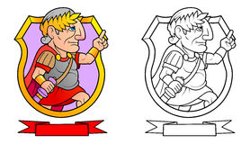 Caesar förbereder sig att leverera ett anförande royaltyfri illustrationer