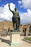 Caesar at the Forum. Bronze statue of Caesar in front of the Roman Forum Royalty Free Stock Photos