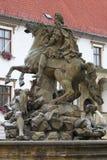 Caesar Fountain in Olomouc Royalty-vrije Stock Foto's