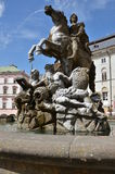 Caesar Fountain in Olomouc Stock Photo