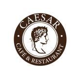 Caesar kafé- & restauranglogo royaltyfri illustrationer