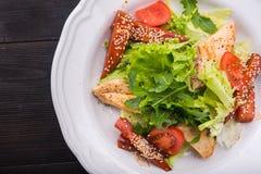 caesar kurczak piec na grillu sałatka Zdjęcie Stock