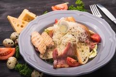caesar kurczak piec na grillu sałatka Fotografia Stock