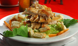 caesar kurczaka sałatka Fotografia Stock